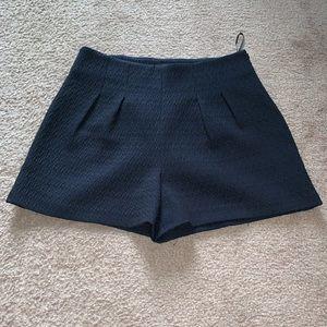 NWT Zara Woman Navy Blue Dress Shorts